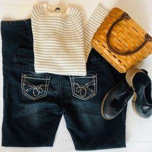 Nordstrom Dark Wash Ultra Skinny Fit Stretch Jeans